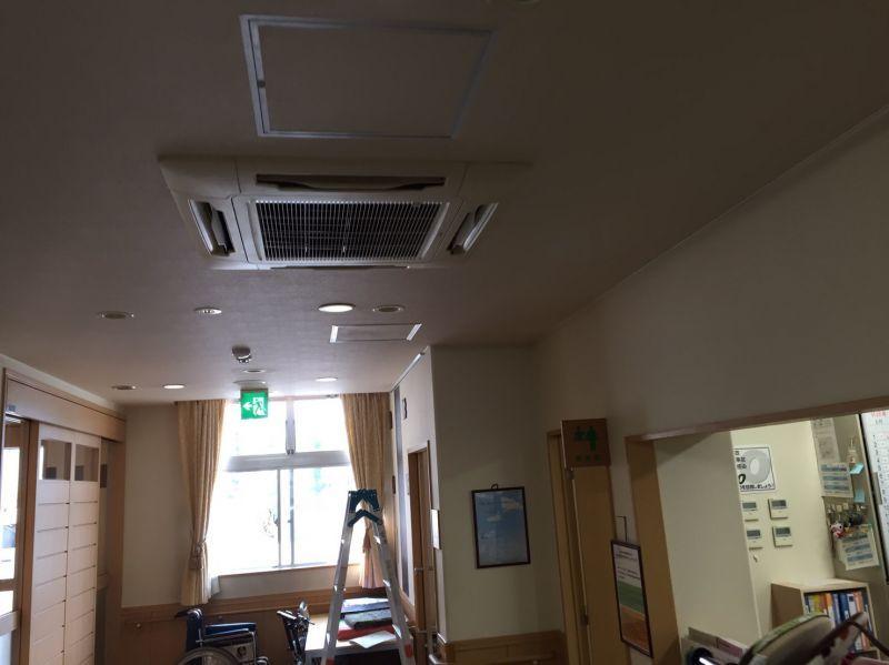 日立 業務用エアコン修理 エラーコード・なし てんかせ4方向【RCI-NP80K】 施工日2016年8月24日
