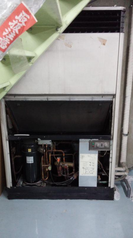 三菱電機 業務用エアコン修理 エラーコード・E01 床置きタイプ PAH-J140DC  空きテナント設置