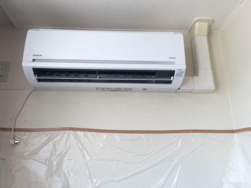 三菱 業務用エアコン修理 壁掛タイプ 更新工事 施工日2016年8月2日