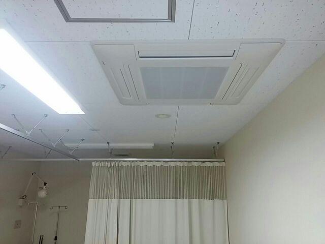 日立 業務用エアコン修理 部品供給不可の為、リニューアル工事を実施 施工日2016年8月14日