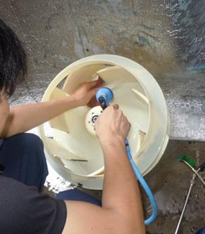 東芝 業務用エアコン修理 エラーコード・Pなし エアコンクリーニング 天カセ4方向形【AUSA 045 76A】施工日2016年9月8日