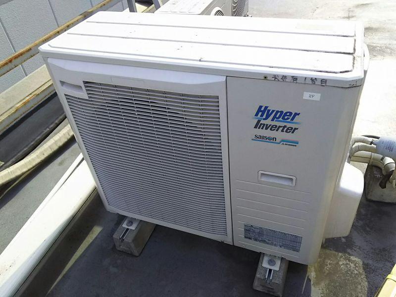三菱重工 業務用エアコン修理 エラーコード・E49 天カセ4方向 ガス漏れ修理 施工日2016年9月25日